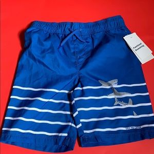 Blue stripe shark trunks